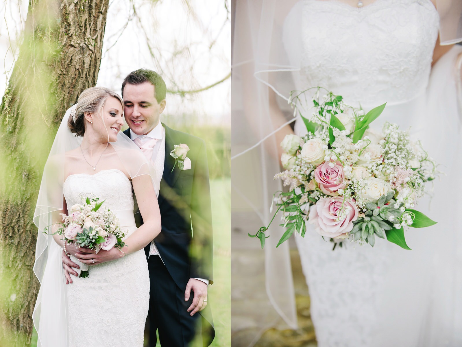 Cain Manor wedding pink bridal bouquet