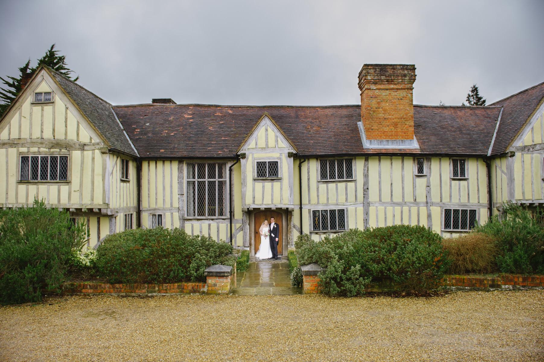 Cain Manor wedding in the rain