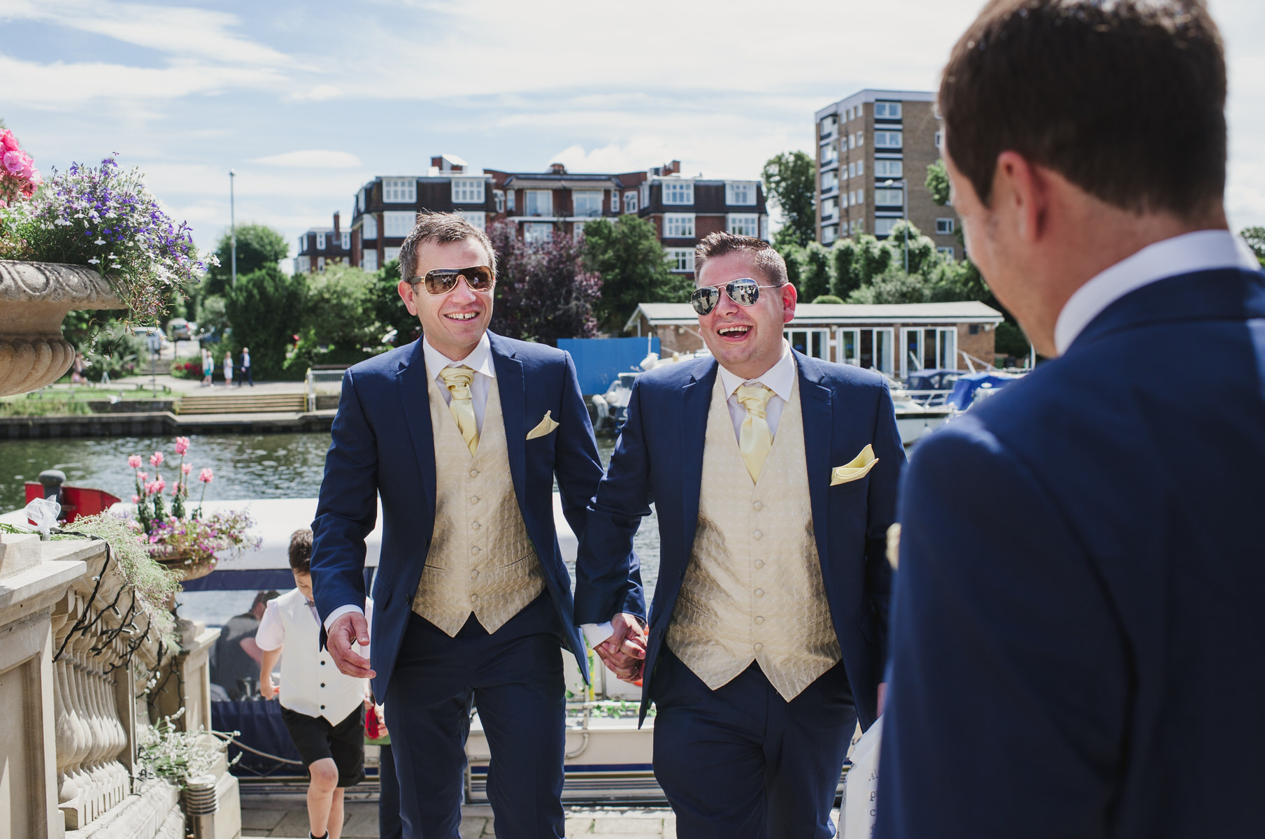 Ravens Ait wedding groom