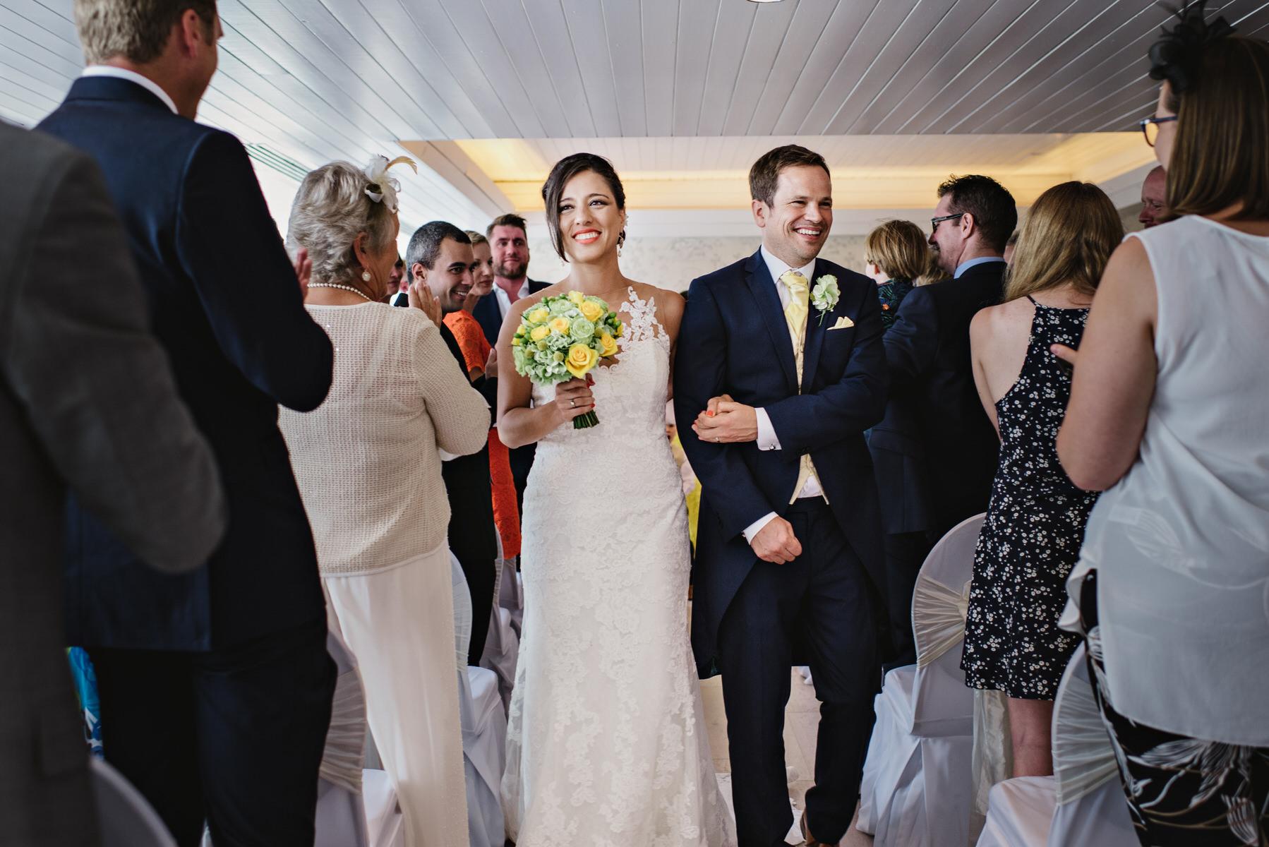 Ravens Ait wedding newly married