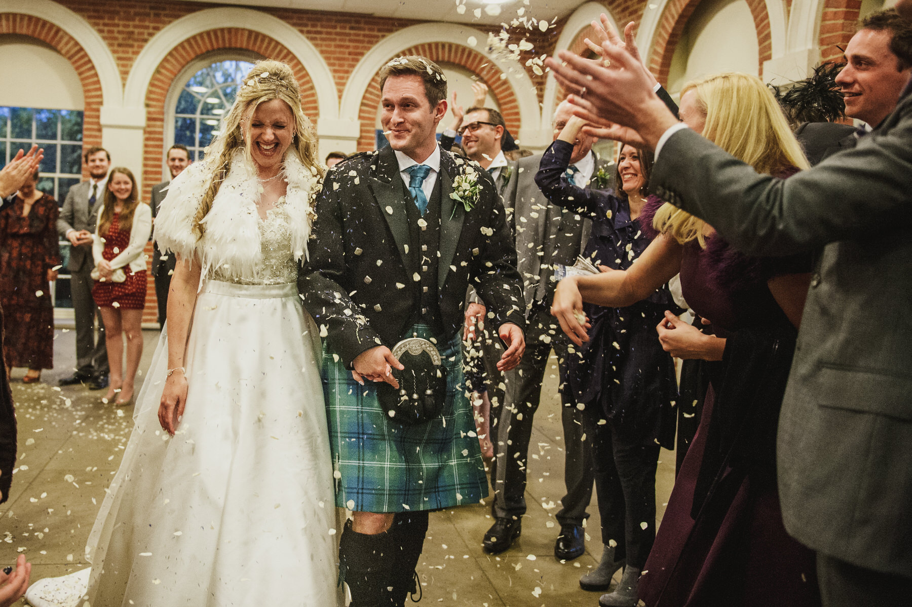 Great Fosters wedding confetti