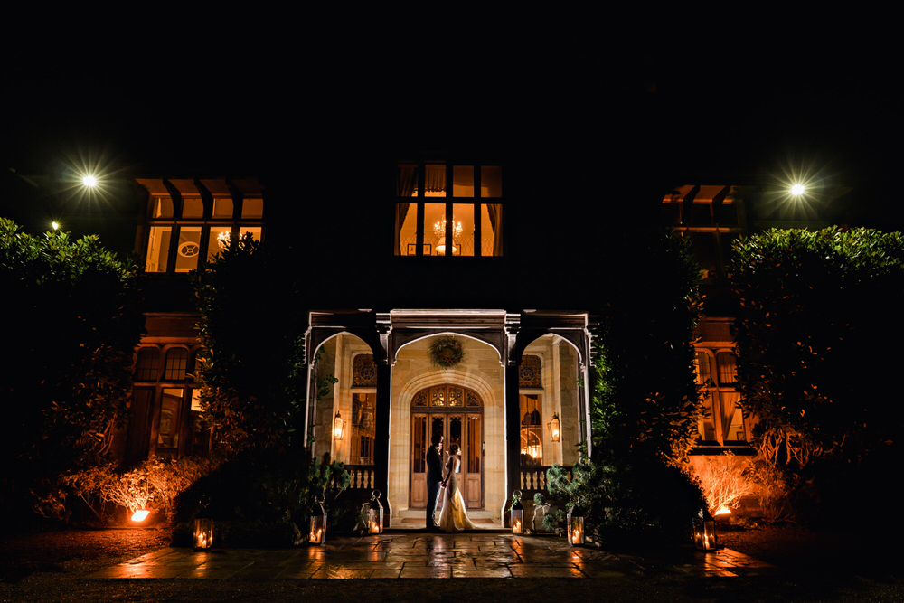 Cowdray House wedding in winter