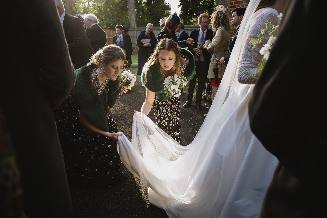 bridesmaids with bride award winning wedding photography WPJA