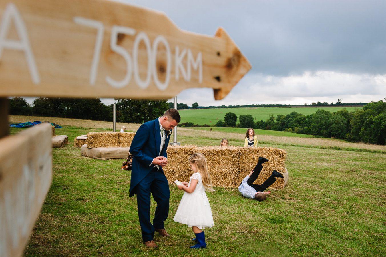 children playing at farm wedding Karen Flower Photography