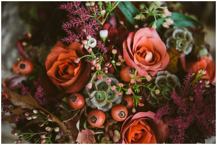 DIY rustic woodland wedding flowers