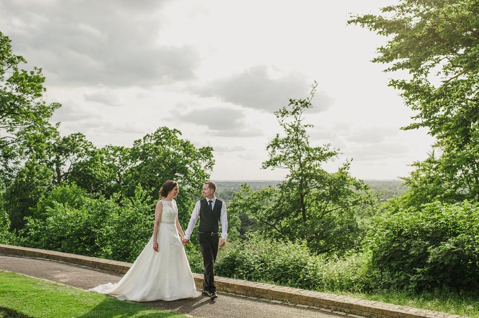Couples portraits Pembroke Lodge Wedding Photographer