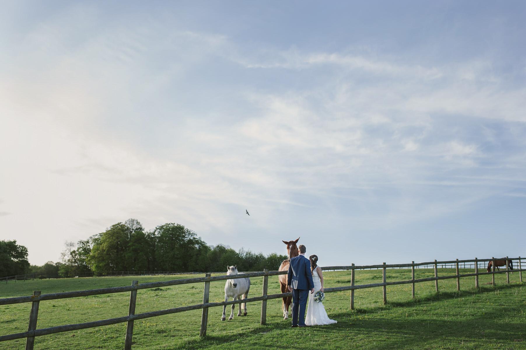 rustic Herons Farm wedding