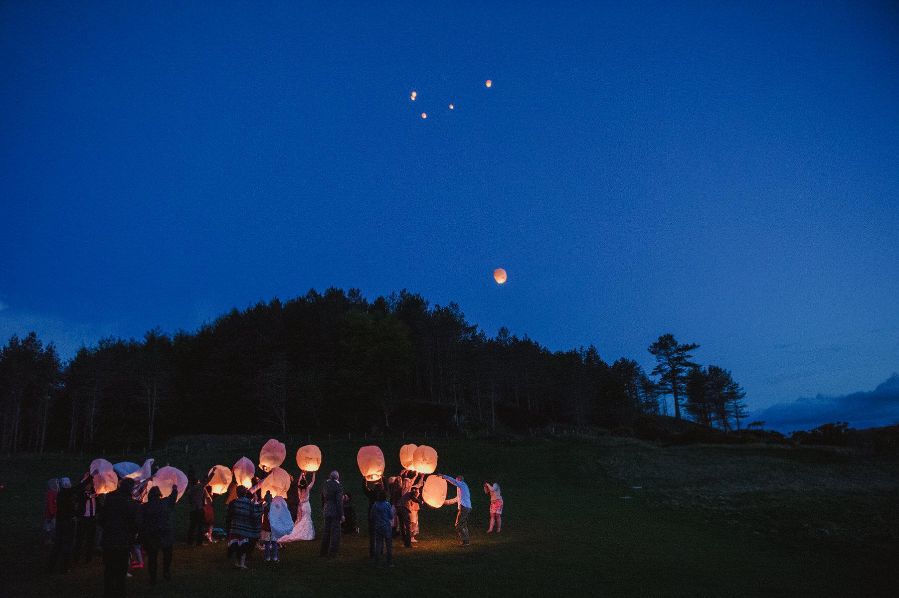 beach wedding ideas Chinese lanterns