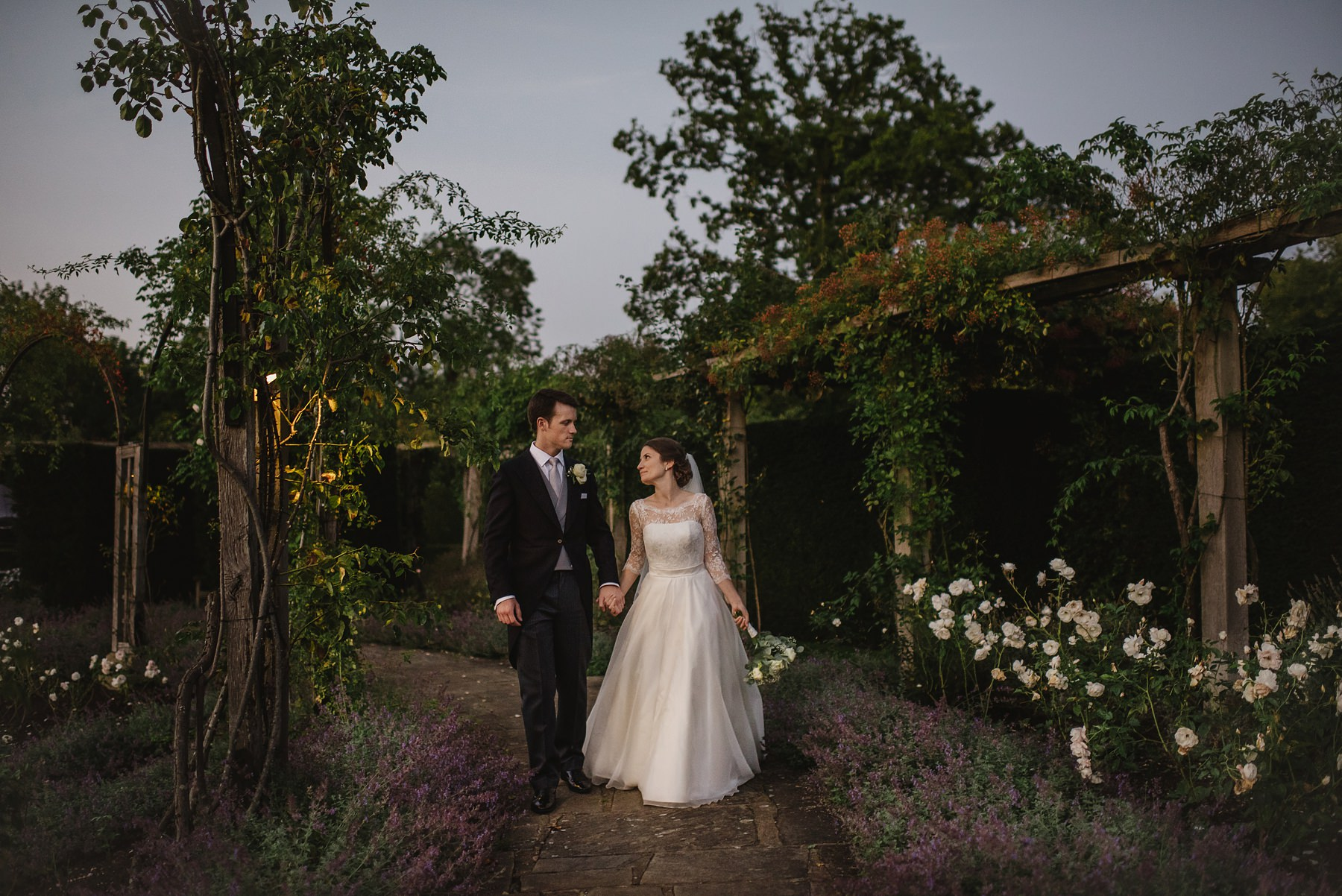 Great Fosters wedding photographer rose garden at Great Fosters