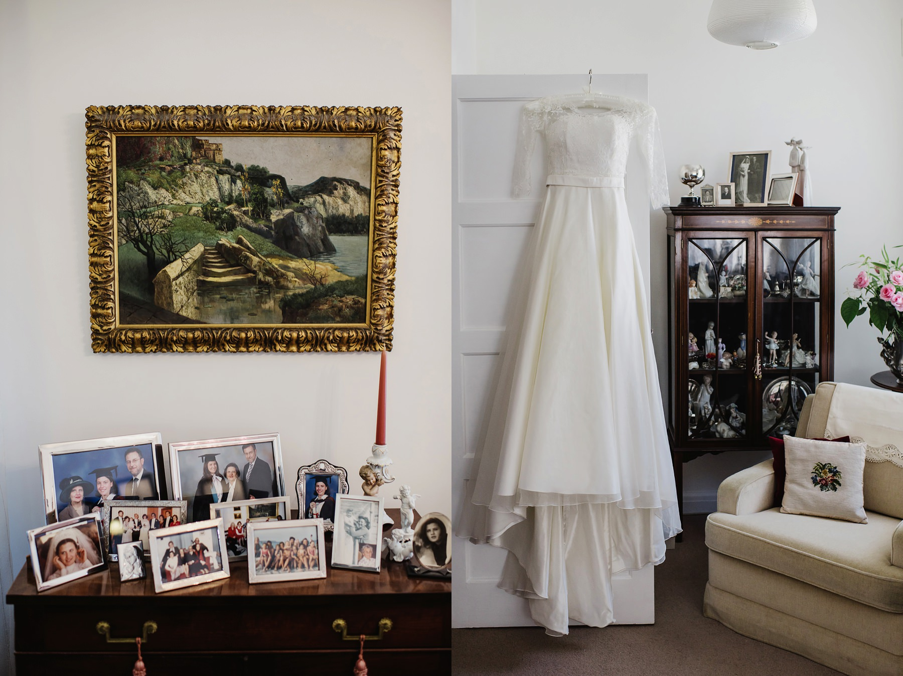 Great Fosters wedding photographer Sassi Holford dress
