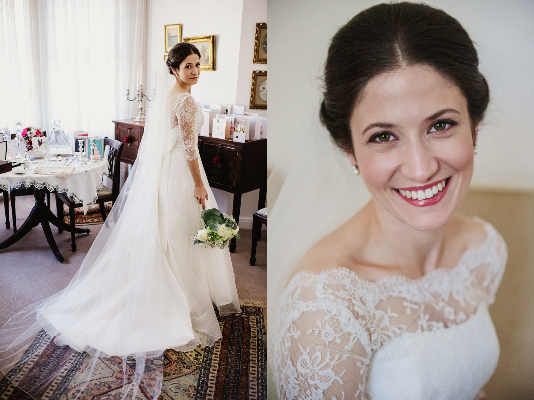 Sassi Holford dress with long veil