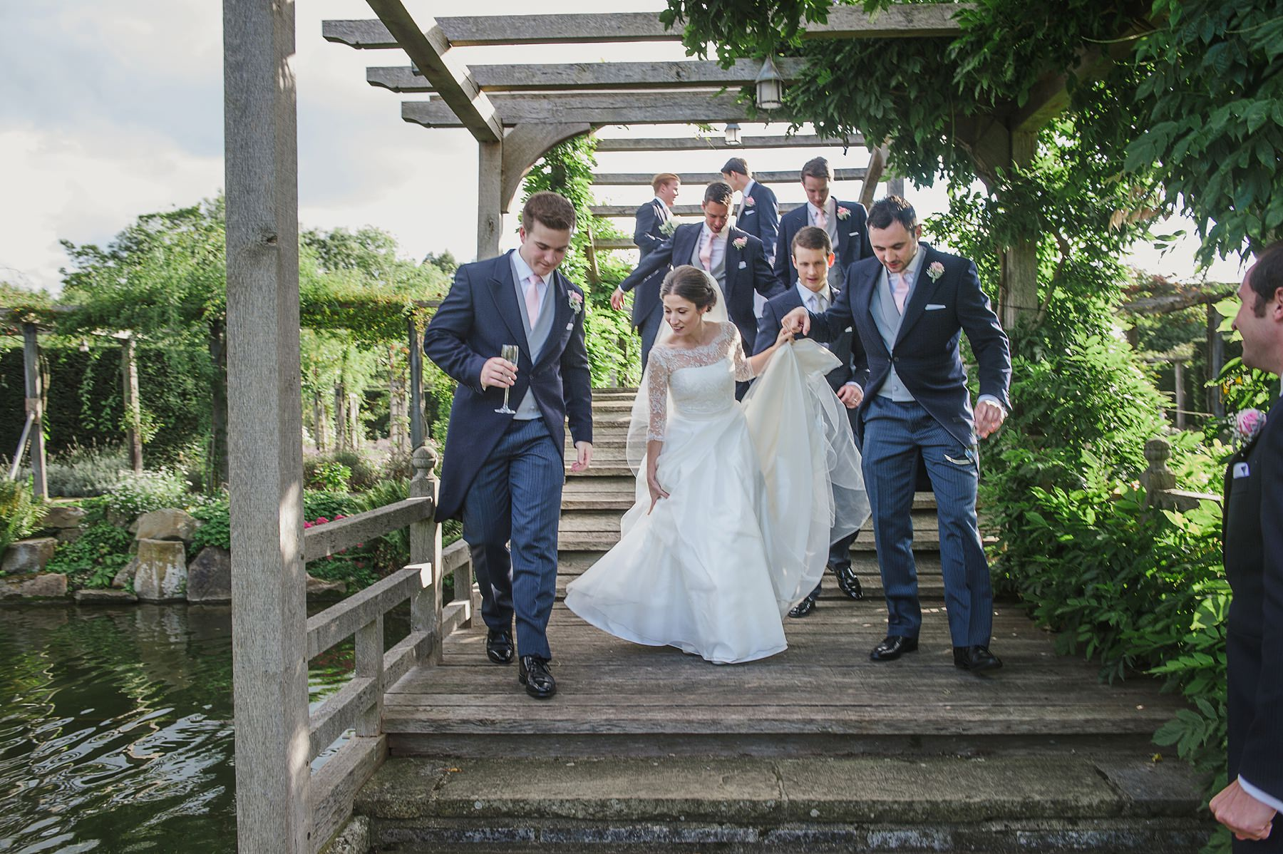 Great Fosters wedding photographer the bridge at Great Fosters