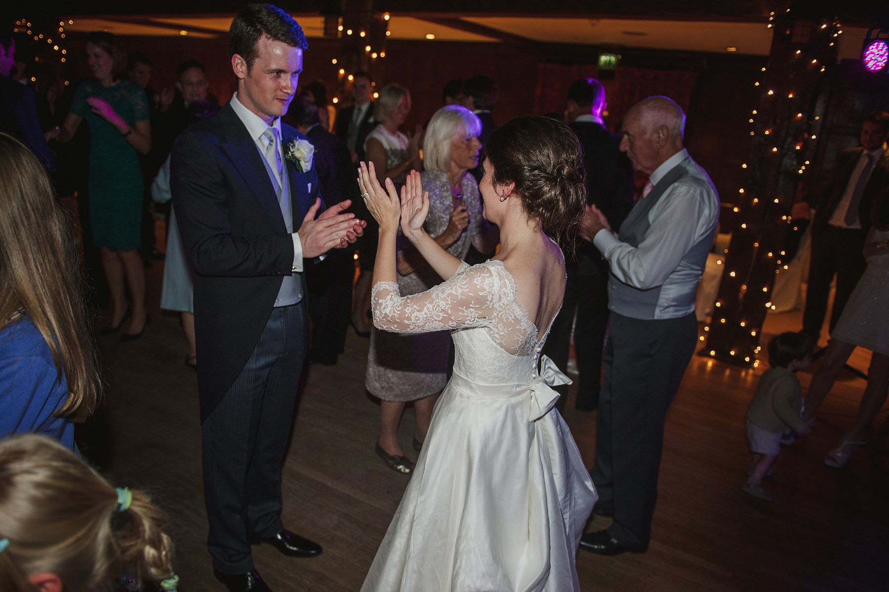 ceilidh dance at Great Fosters