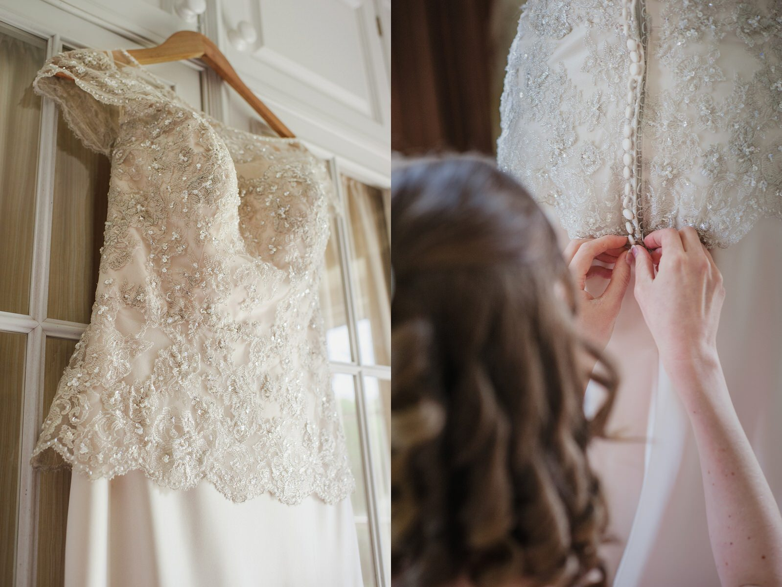 Herons Farm wedding lace wedding dress