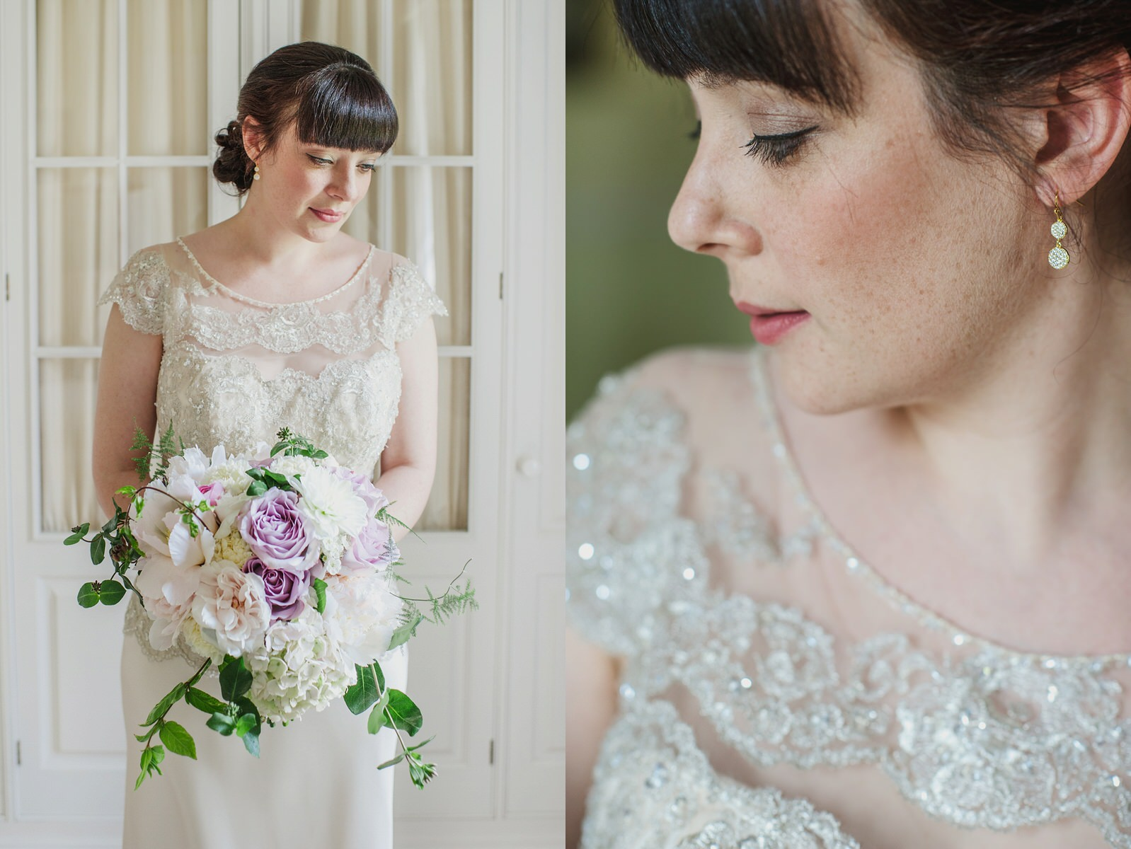 Herons Farm wedding beaded dress