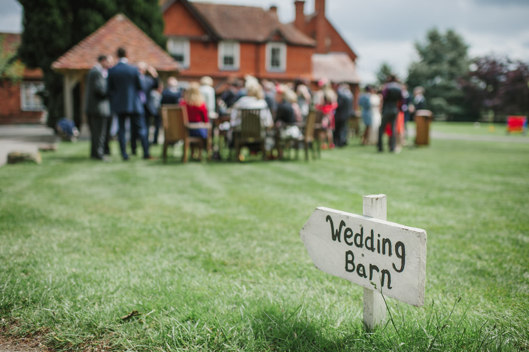 guests Herons Farm wedding