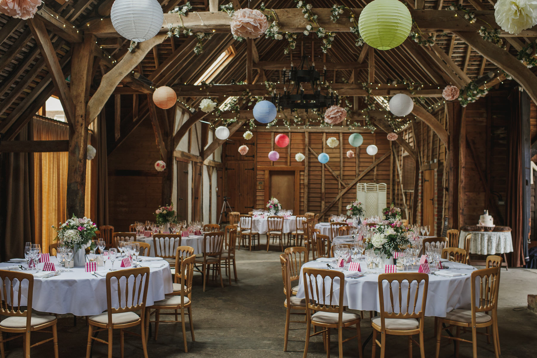 decoarted barn DIY Herons Farm wedding