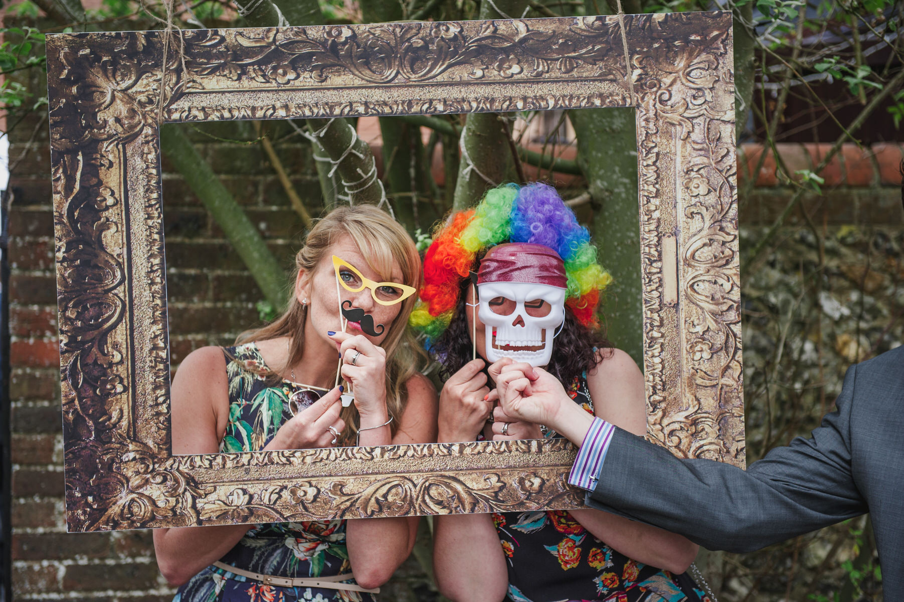 homemade photo booth Herons Farm wedding