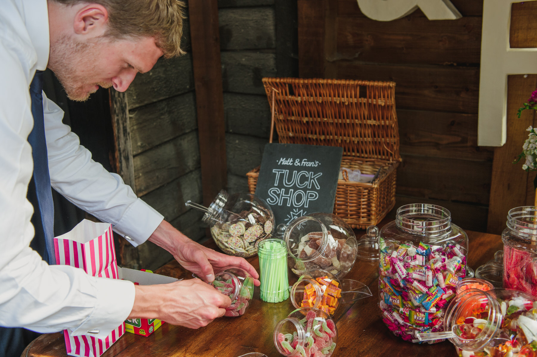 sweet trolley Herons Farm wedding