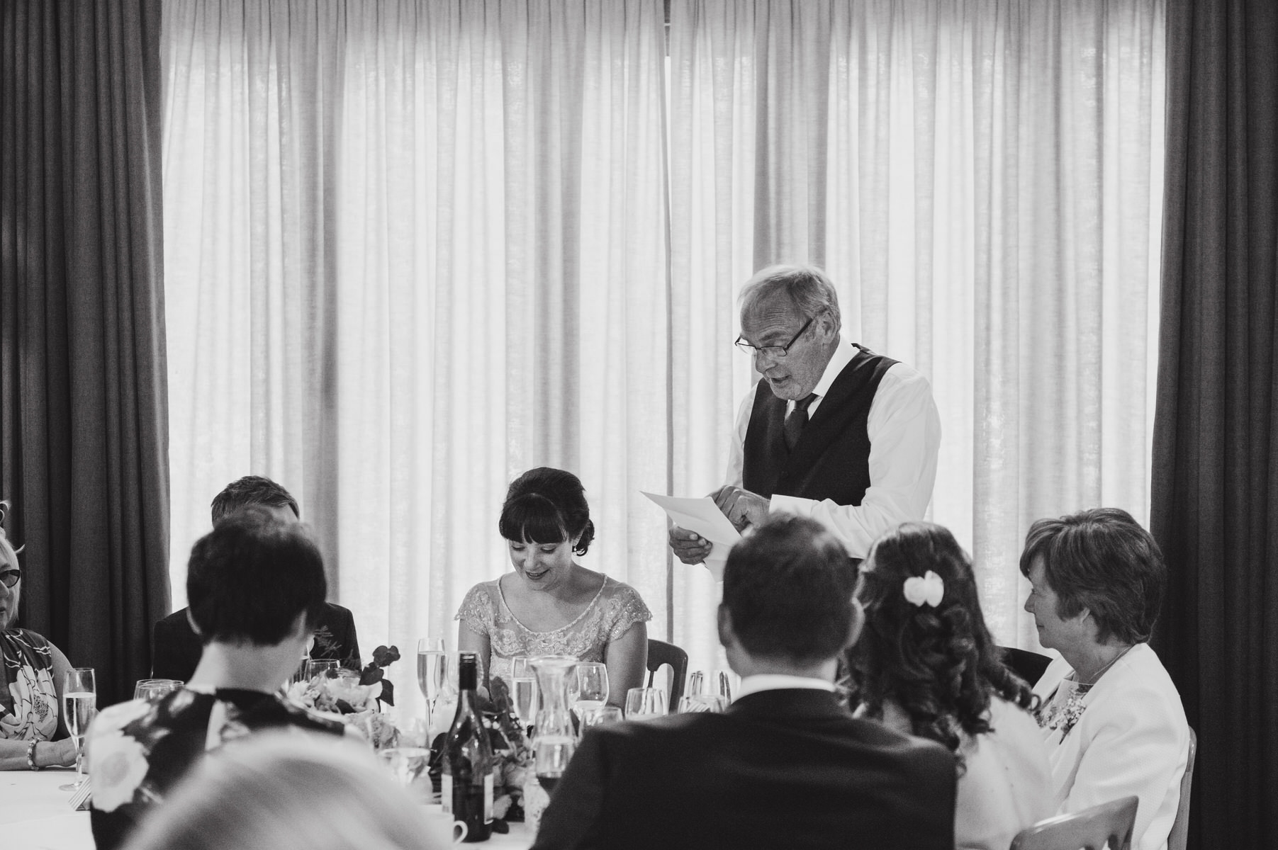 speeches Herons Farm wedding