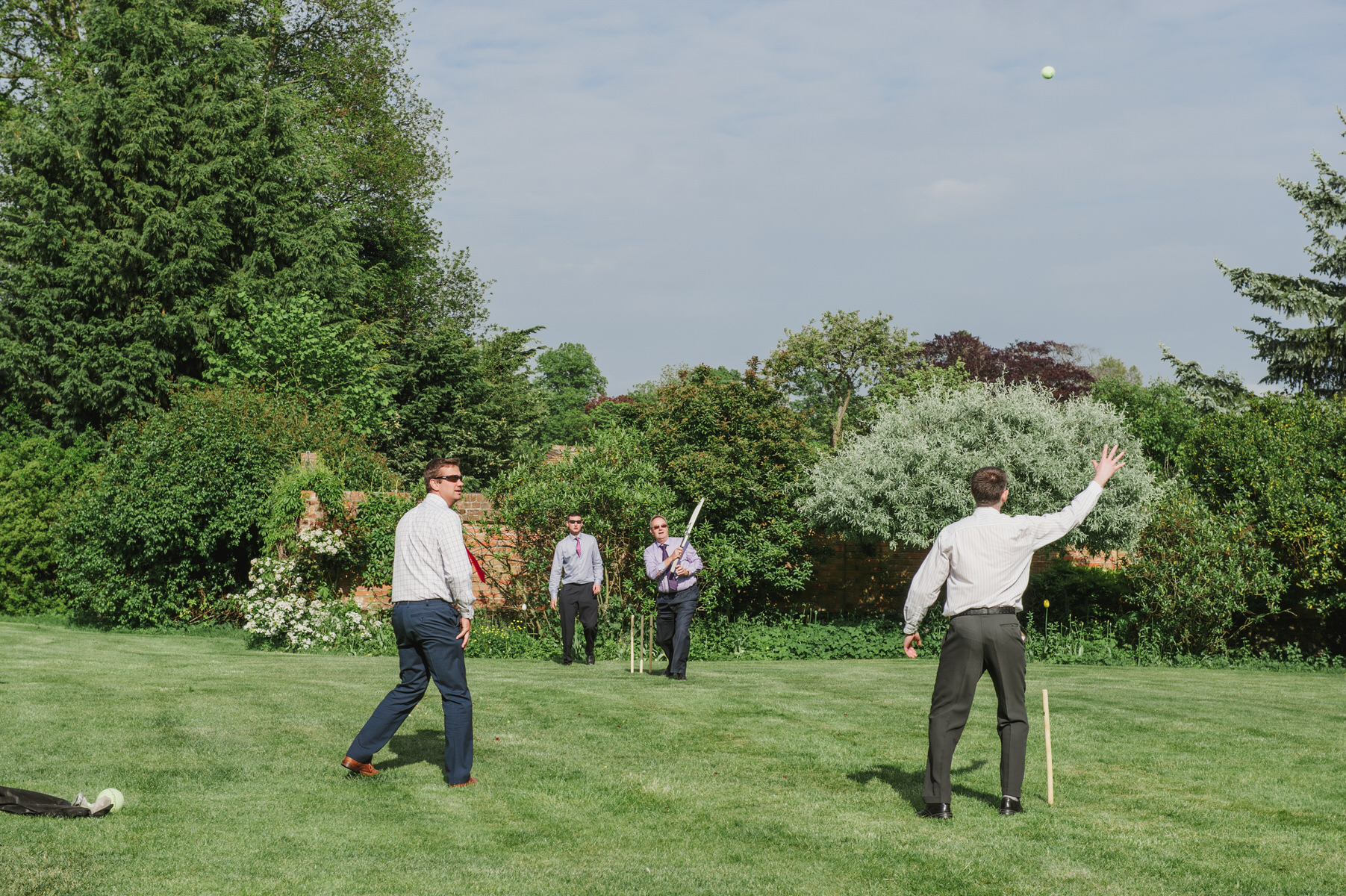 lawn games Herons Farm wedding