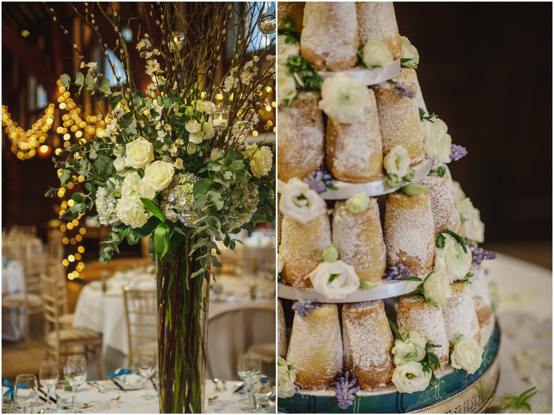 Great Fosters wedding Tithe Barn
