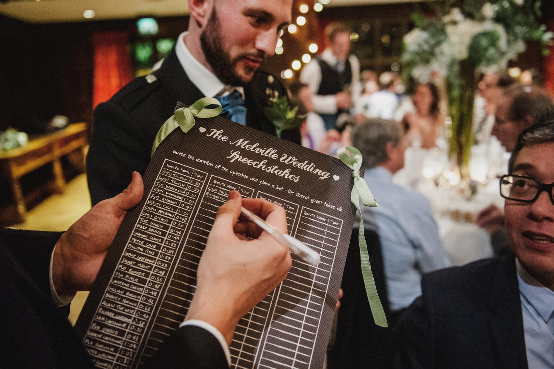Great Fosters wedding speeches