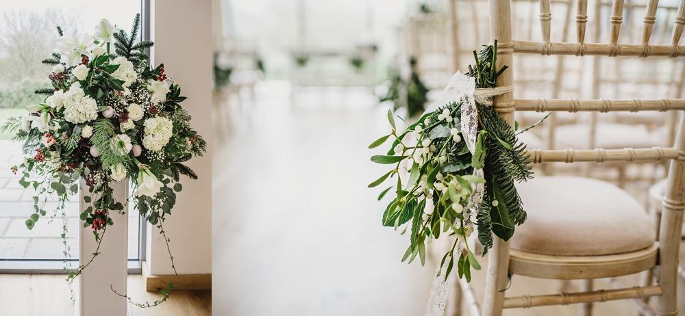 Millbridge Court Wedding winter wedding flowers