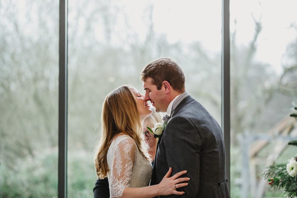 Millbridge Court Wedding the kiss