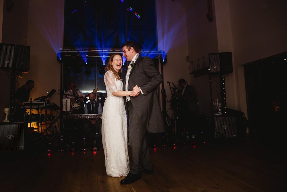 Millbridge Court Wedding bride and groom dancing