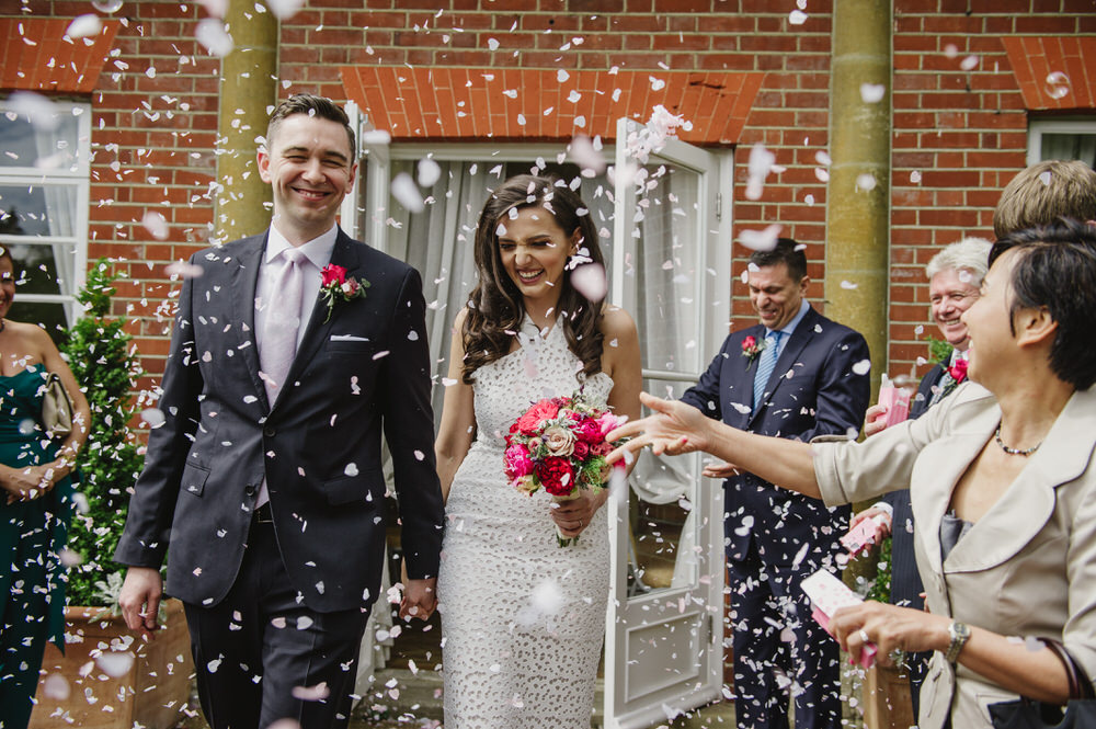 best wedding photography surrey confetti