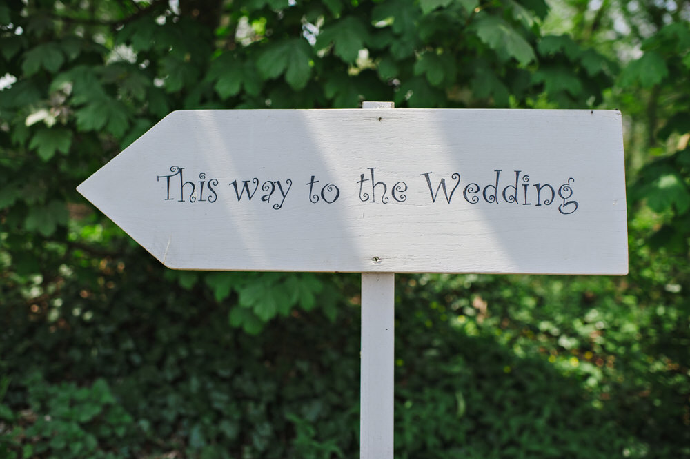 Herons Farm Barn wedding wedding sign