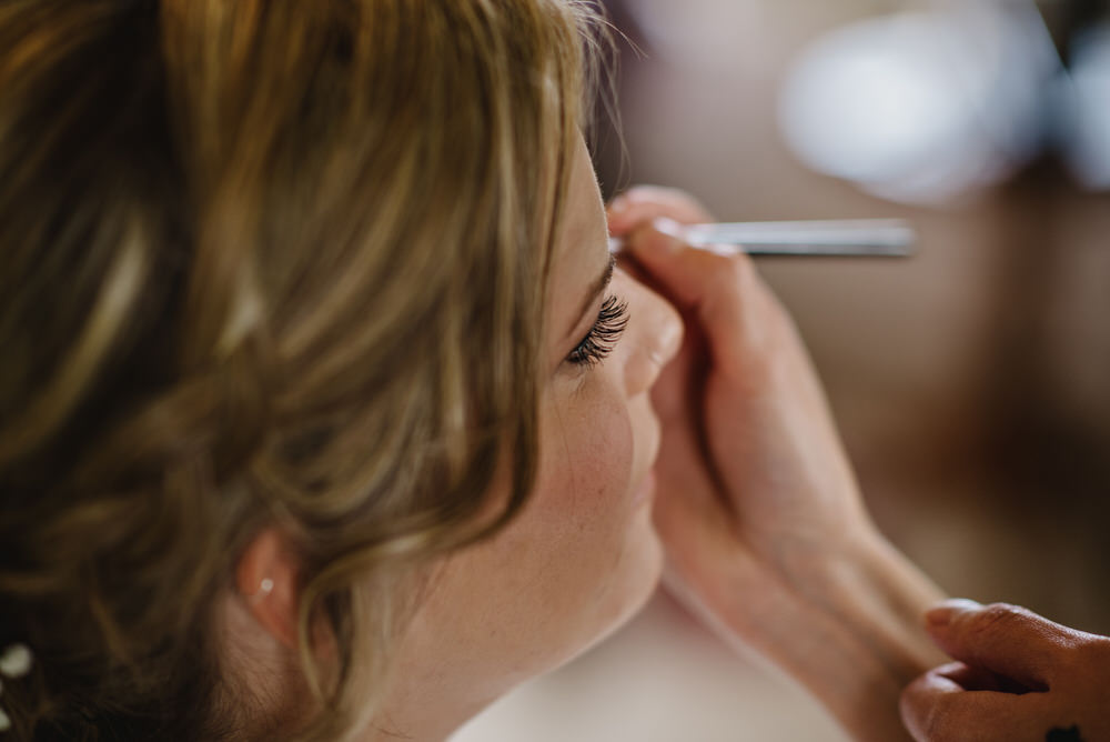 Herons Farm Barn wedding bridal make up