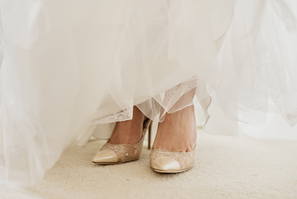 Herons Farm Barn wedding shoes