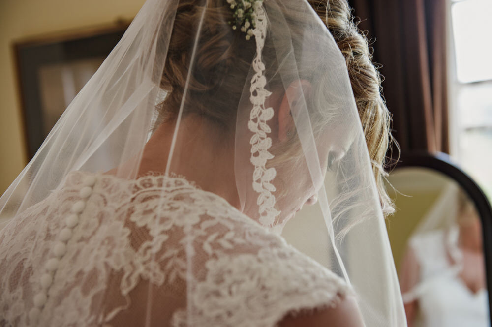Herons Farm Barn wedding veil