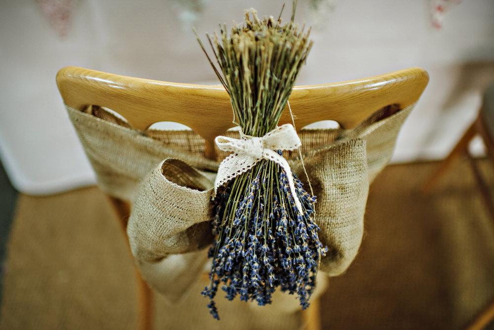 Herons Farm Barn wedding chair cover