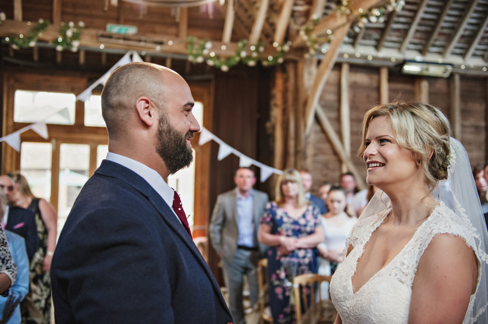Herons Farm Barn wedding ceremony