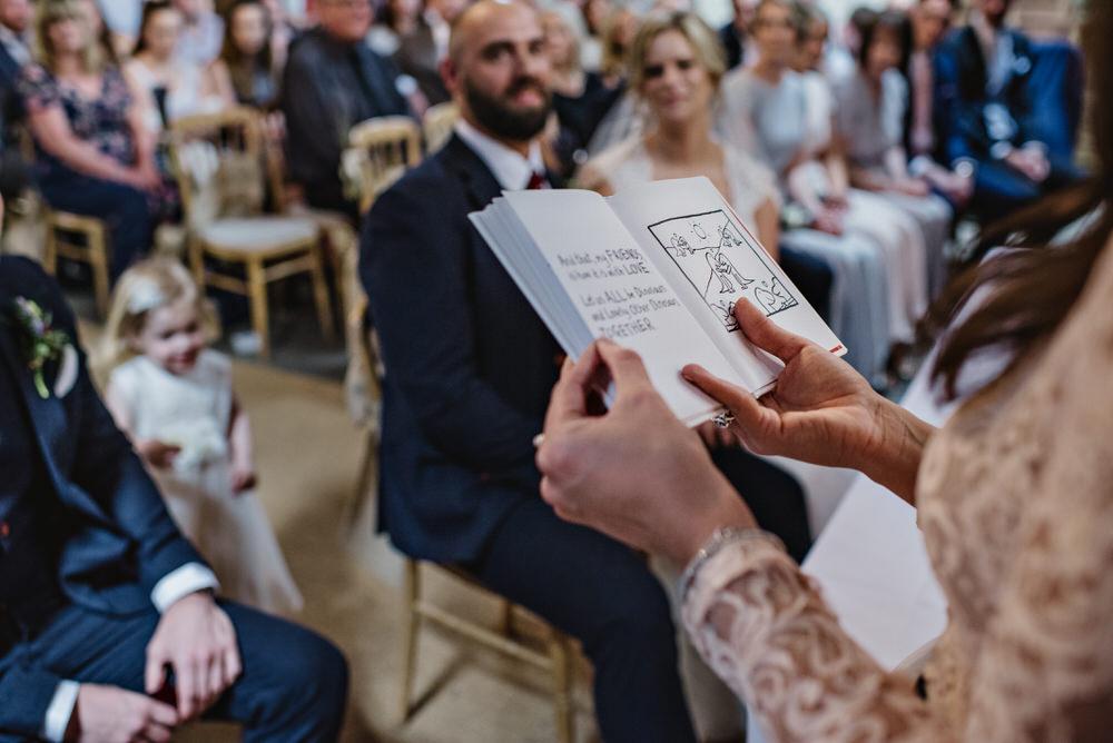 Herons Farm Barn wedding reading