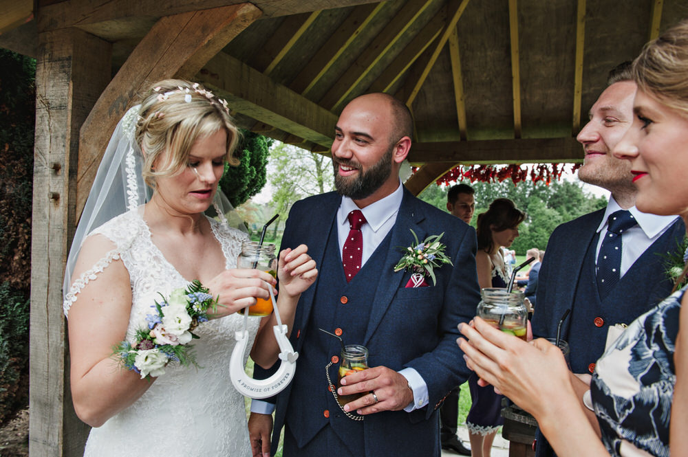 Herons Farm Barn wedding ceremony