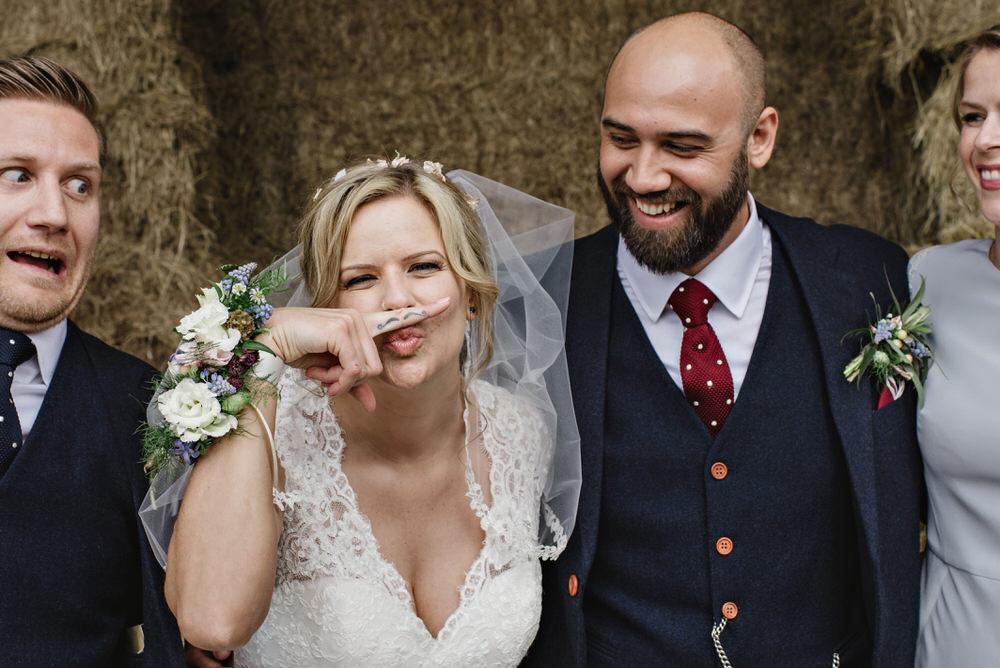 Herons Farm Barn wedding guests