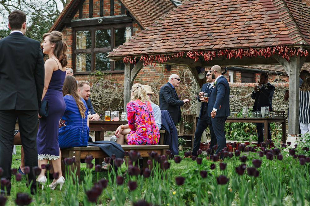 Herons Farm Barn wedding guests