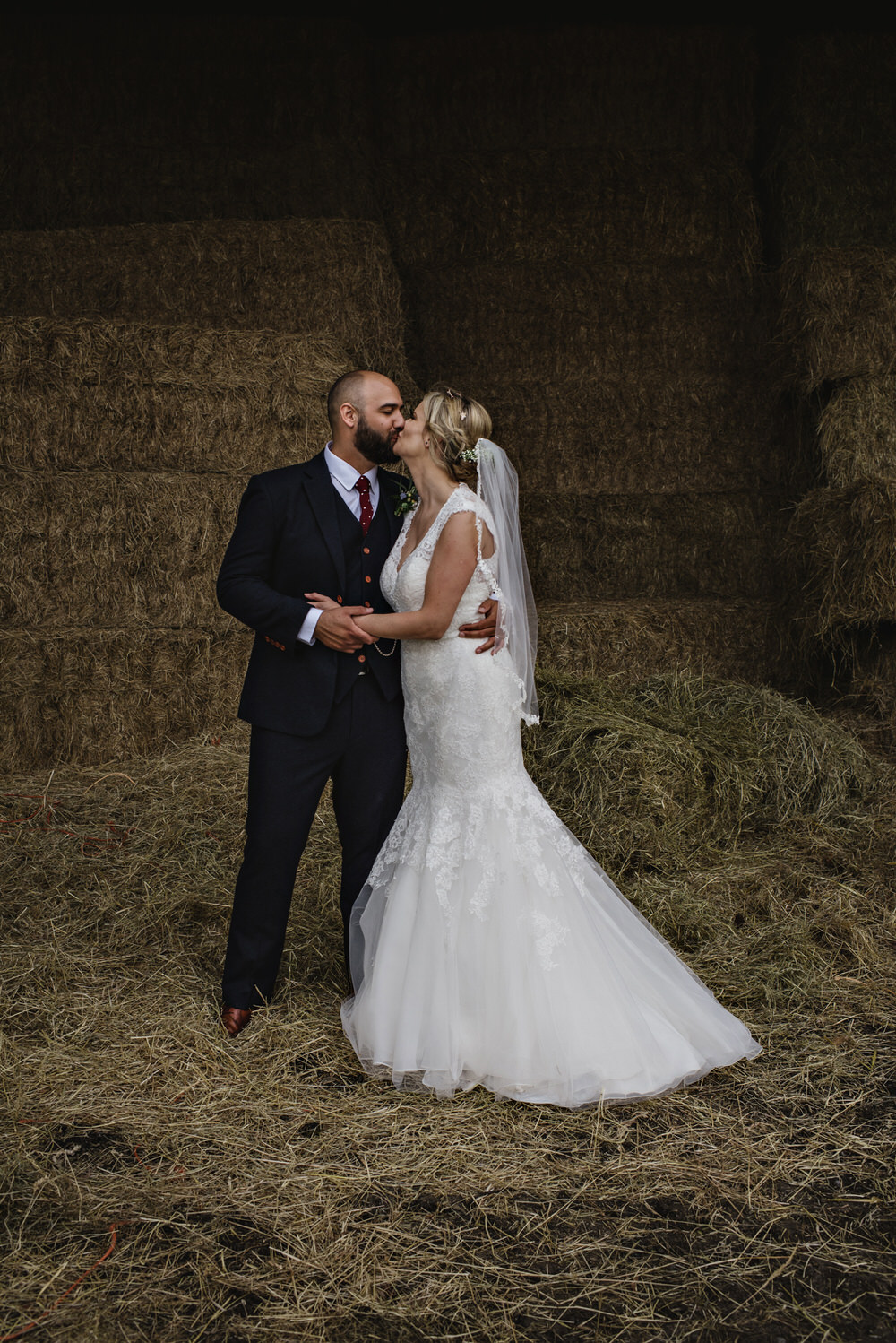 Herons Farm Barn wedding couples portrait