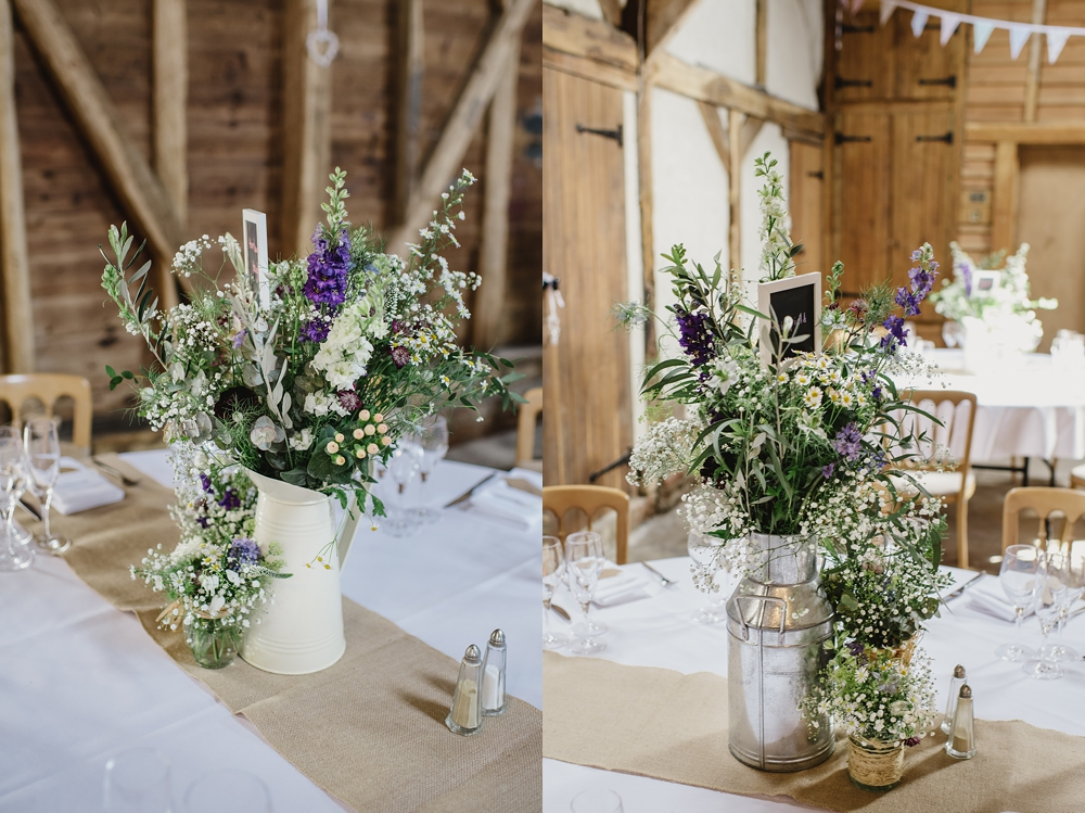 Herons Farm Barn wedding flowers