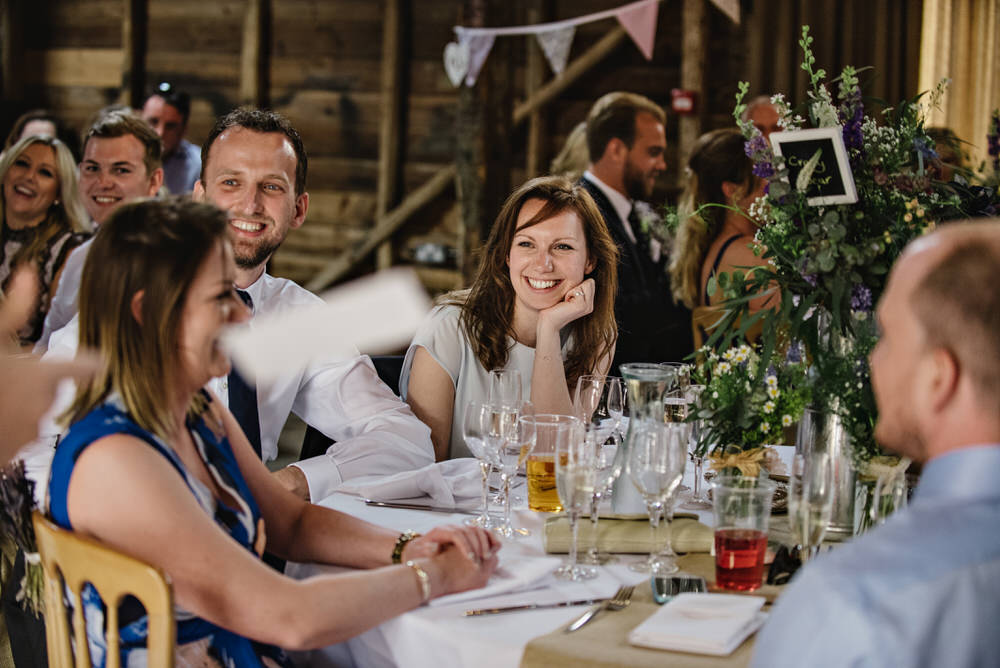 Herons Farm Barn wedding speeches