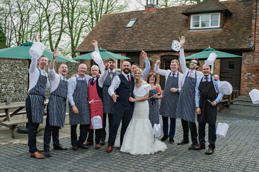 Herons Farm Barn wedding pie maker