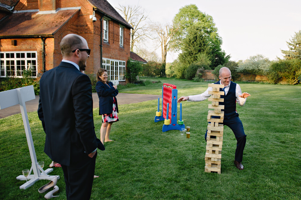 Herons Farm Barn wedding lawn games