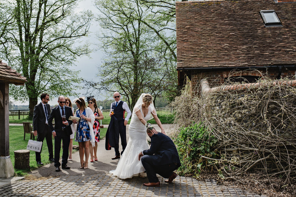 Herons Farm Barn wedding shoes