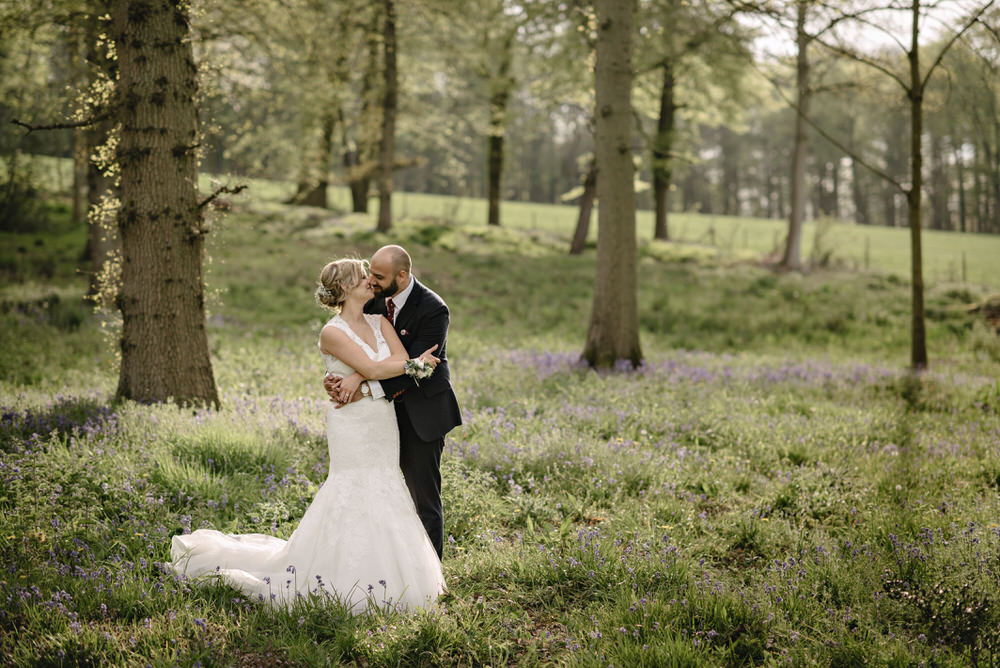 Herons Farm Barn wedding bride and groom portraits