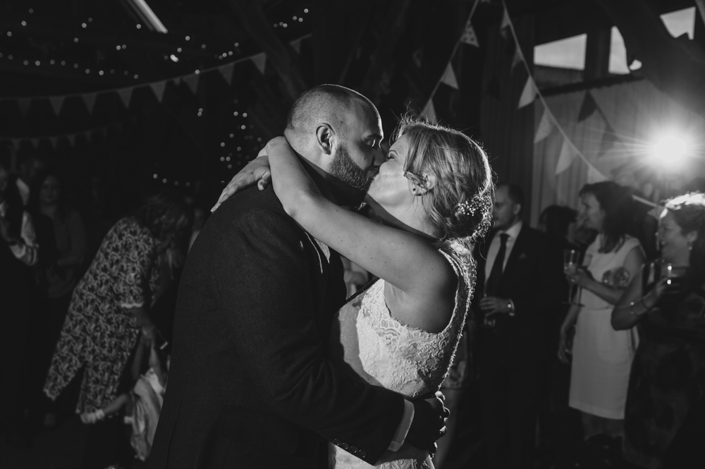 Herons Farm Barn wedding bride and groom dance