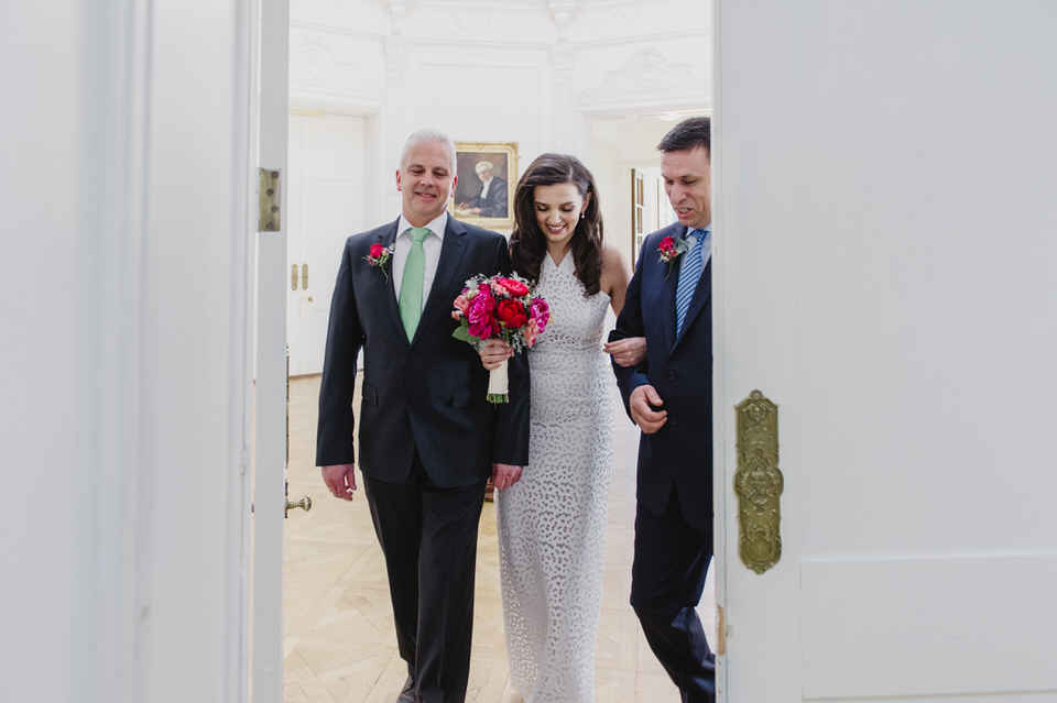 bride entering ceremony at York House